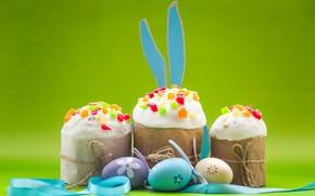Картинка яйца, Кролик, Пасха, Праздник, ушки, куличи