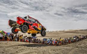 Картинка Песок, Авто, Спорт, Машина, Скорость, Люди, Гонка, Toyota, Hilux, Rally, Dakar, Дакар, Внедорожник, Ралли, Sport, …
