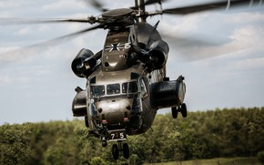 Картинка тяжёлый, CH-53, Super Stallion, транспортный вертолёт