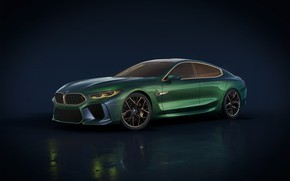 Картинка Concept, фон, BMW, концепт, Gran Coupe, backgound, вмб