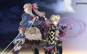 Картинка оружие, меч, аниме, арт, парни, fire emblem