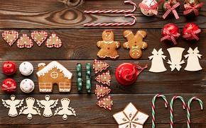 Картинка merry christmas, cookies, decoration, xmas, gingerbread