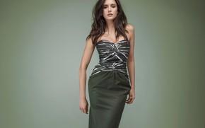 Картинка девушка, фото, модель, волосы, фигура, платье, декольте, красивая, Nina Dobrev, Нина Добрев