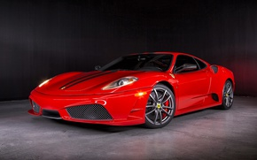 Картинка фон, Ferrari, суперкар, феррари, красная, 430 Scuderia