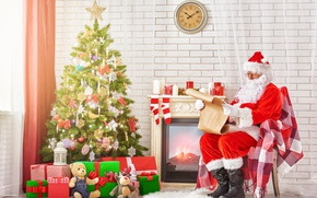 Картинка Новый Год, Рождество, merry christmas, decoration, christmas tree, santa claus