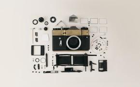 Обои фотоаппарат, camera, линзы, lens, пленка, камера, внутренности, insides, film, объектив