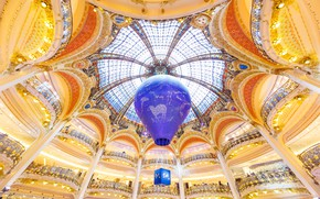 Обои воздушный шар, Франция, Париж, универмаг, Галерея Лафайет