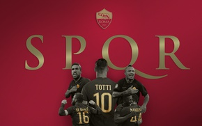 Картинка wallpaper, sport, football, AS Roma, Serie A, players, Giallorossi