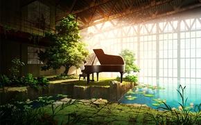 Картинка music, anime, piano, beauty, japanese
