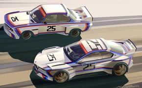 Картинка Concept, Авто, Рисунок, Машина, Арт, Hommage, Bavarian, BMW 3.0 CSL, Hommage R, BMW 3.0, Art …