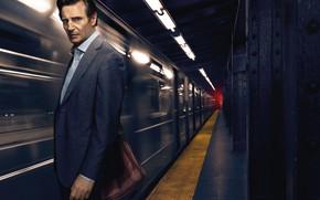 Обои Constantin Film, Man, Film, Alex Murphy, Ruthless, EXCLUSIVE, Captain, Liam Neeson, Subway, 2018, Patrick Wilson, ...