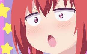 Картинка demon, red, girl, star, devil, red hair, anime, face, redhead, bishojo, akuma, Gabriel DropOut, Kurumizawa …