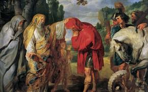 Картинка картина, жанровая, Питер Пауль Рубенс, Pieter Paul Rubens, Консул Деций Мус Готовится к Смерти