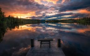 Картинка красота, Норвегия, Norway, Ringerike, Wooden Stool