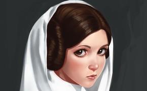 Обои Звездные Войны, by ivantalavera, Leia