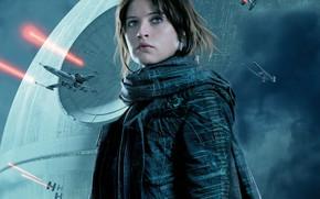 Обои постер, Фелисити Джонс, Felicity Jones, Rogue One, Изгой-один: Звёздные войны. Истории, фантастика