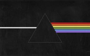 Картинка Музыка, Треугольник, Pink Floyd, Рок, Тёмная сторона Луны, The Dark Side of the Moon, Триангулярная …