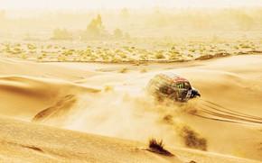 Картинка Песок, Mini, Горы, Пыль, Спорт, Скорость, Гонка, Холмы, Жара, Rally, Ралли, Дюна, Raid, MINI Cooper, …