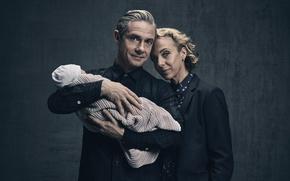 Обои Мэри Ватсон, доктор Джон Ватсон, британский актер кино и телевидения, 2017, BBC, Мартин Фримен, Шерлок, ...