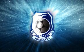 Обои Футбольный Клуб, Футбол, Фон, 1936, Черноморец, Логотип, Лого, Одесса, Свет, Герб, Черно - синий, Черный, ...