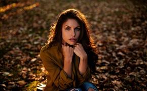 Картинка взгляд, девушка, портрет, Ines Estelle