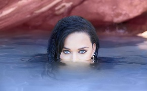 Картинка глаза, взгляд, вода, Katy Perry, певица