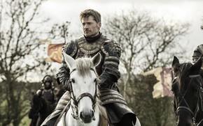 Картинка конь, лошадь, доспех, игра престолов, game of thrones, knight, jaime lannister, николай костер-вальдау, цареубийца, kingslayer, …