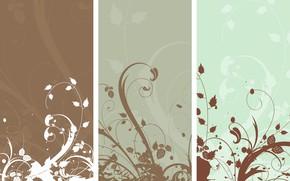 Картинка цветы, абстракция, фон, обои, вектор, текстура