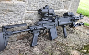 Обои оружие, винтовка, weapon, rifle, M14, EBR, marksman, MK14