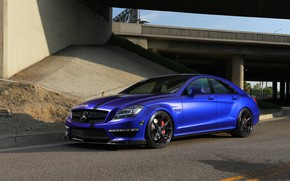 Картинка Mercedes, Blue, AMG, Stuttgart, CLS63