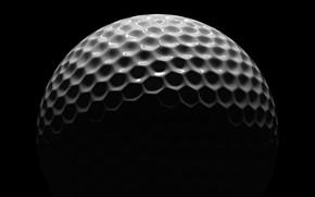 Картинка white, black, golf, ball