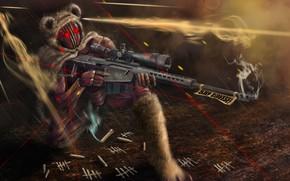 Картинка оружие, дым, экипировка, гильзы, Codename SIERRA