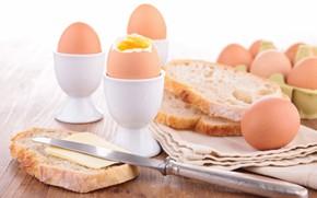 Картинка масло, яйца, хлеб