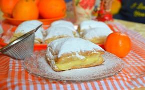 Обои Апельсины, Orange, Пирог