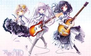 Картинка трио, гитары, девочки
