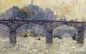 Картинка Париж, масло, холст, Мост Искусств, Кес ван Донген, 1901-1903