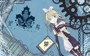 Картинка дом, аниме, арт, девочка, Vocaloid, Вокалоид