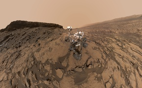 Обои НАСА, Марсианская научная лаборатория, Кьюриосити, Марс, марсоход