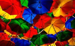 Обои зонт, зонтик, краски, улица