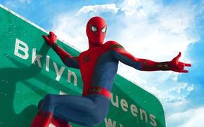 "Обои yuusha, Spider, boy, mask, Tom Holland, Thomas Stanley ""Tom"" Holland, Spiderman: Homecoming, cinema, Spiderman, seifuku, ..."