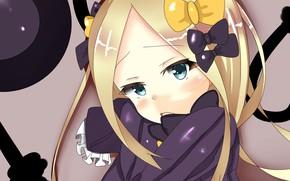 Картинка взгляд, фон, девочка, Fate Grand Order