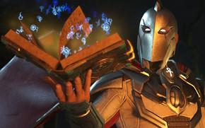 Картинка game, magic, book, hero, DC Comics, helmet, uniform, super hero, symbols, ankh, Injustice 2, Doctor …
