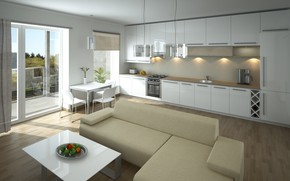 Обои дизайн, кухня, style, kitchen, living room, гостиная, design, interior, интерьер, стиль