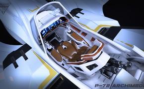 Картинка P-72 Archimedes, archimedes cockpit back, concept art Star Citizen