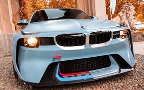 Картинка Concept, Авто, BMW, Машина, Лого, Решетка, turbo, Фары, 2002, Передок, Новая, BMW 2002, BMW 2002 …