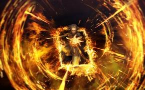 Картинка огонь, пламя, Ведьмак, Геральд, The Witcher 3: Wild Hunt, Ведьмак 3: Дикая Охота, гвинт, Gwent