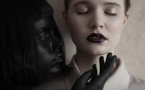 Картинка макияж, две девушки, Renat Renee-Ell