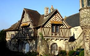 Картинка Франция, Дом, France, Нормандия, Normandy