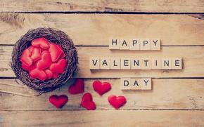 Картинка праздник, надпись, сердечки, день влюбленных