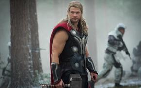 Картинка gun, soldier, armor, weapon, Thor, rifle, Chris Hemsworth, god, Thor: Ragnarok